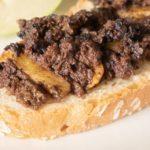 Morcilla de León con Manzana en tosta de pan de pueblo de Alicia