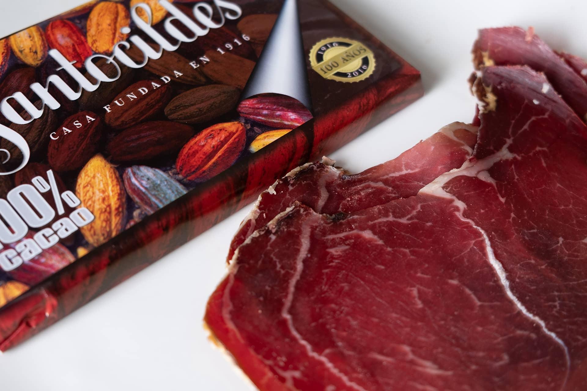 Cecina de León IGP y Chocolate Santocildes