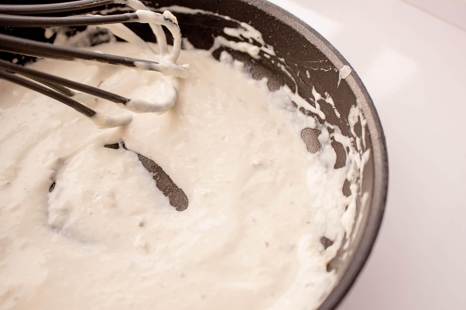 Salsa de queso Valdeón lista para comer