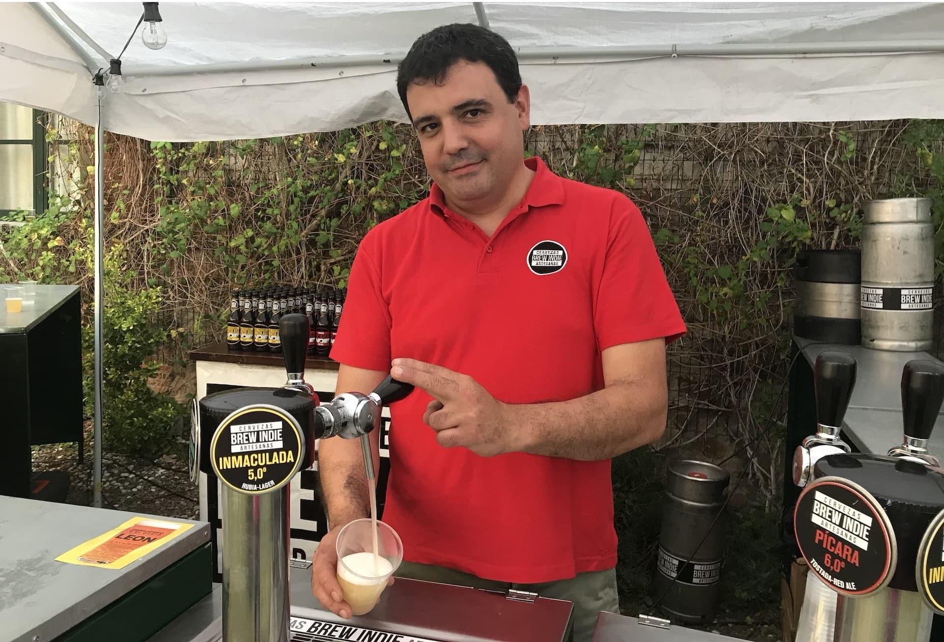 Sergio de cervecería Brew Indie