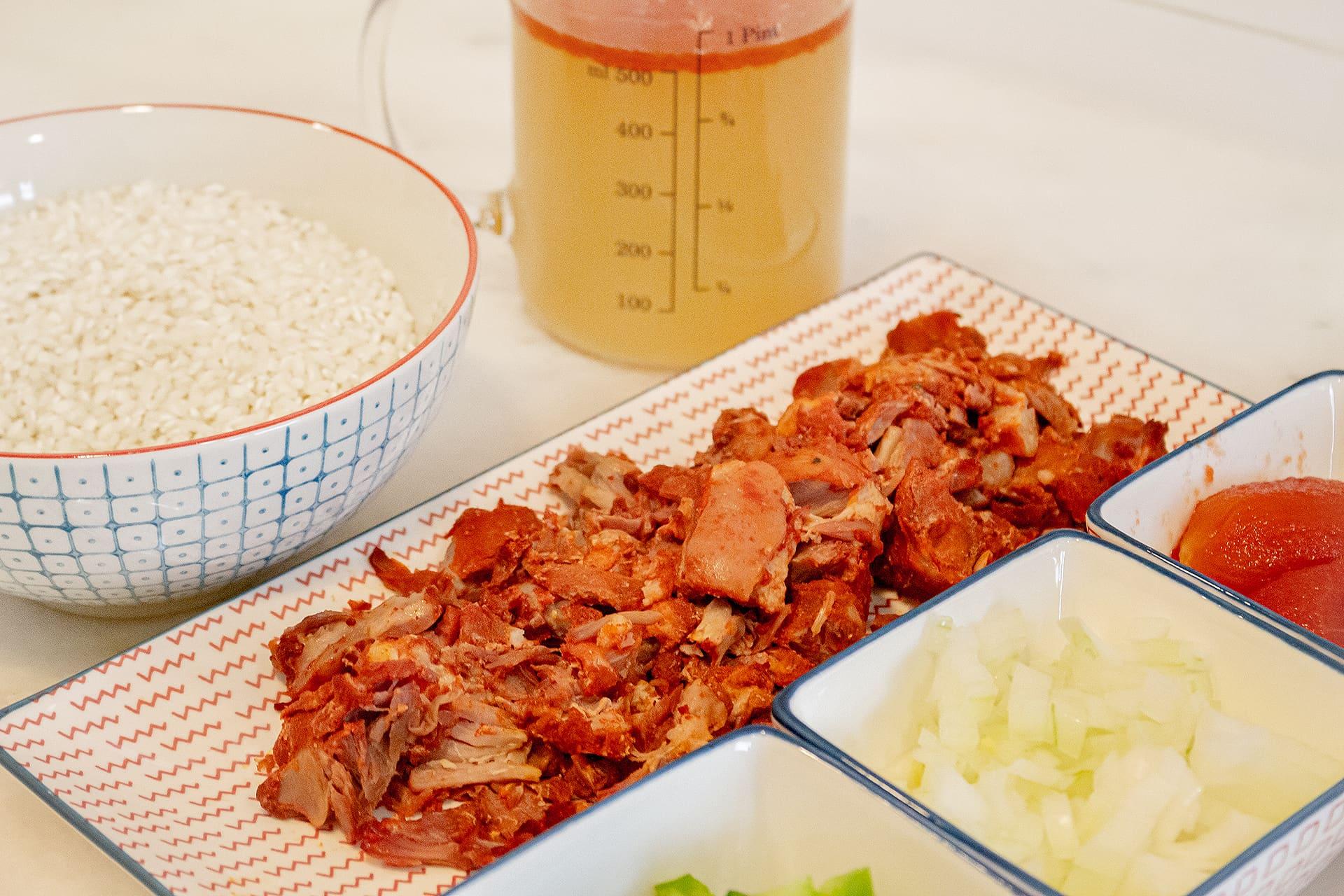 Ingredientes botillo del Bierzo con arroz caldoso